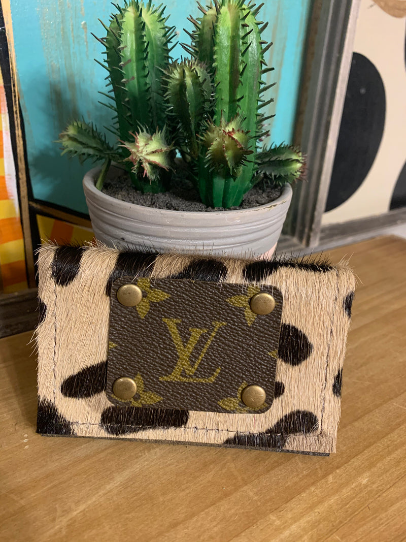 Upcycled Credit Card Holder-Leopard