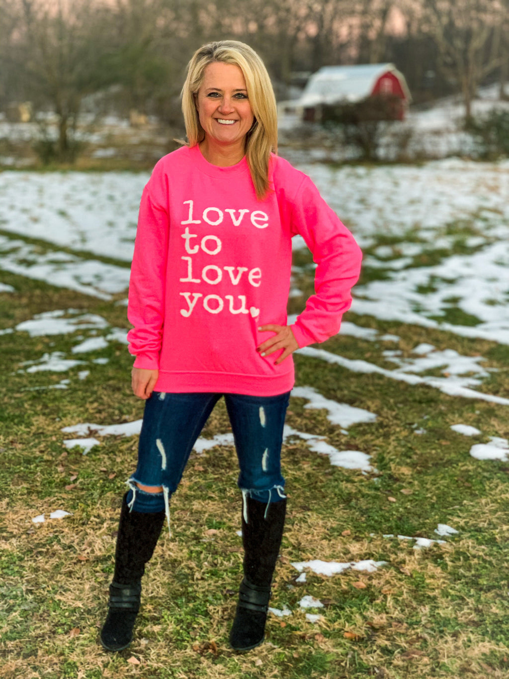 Love to Love You Sweatshirt-Adult
