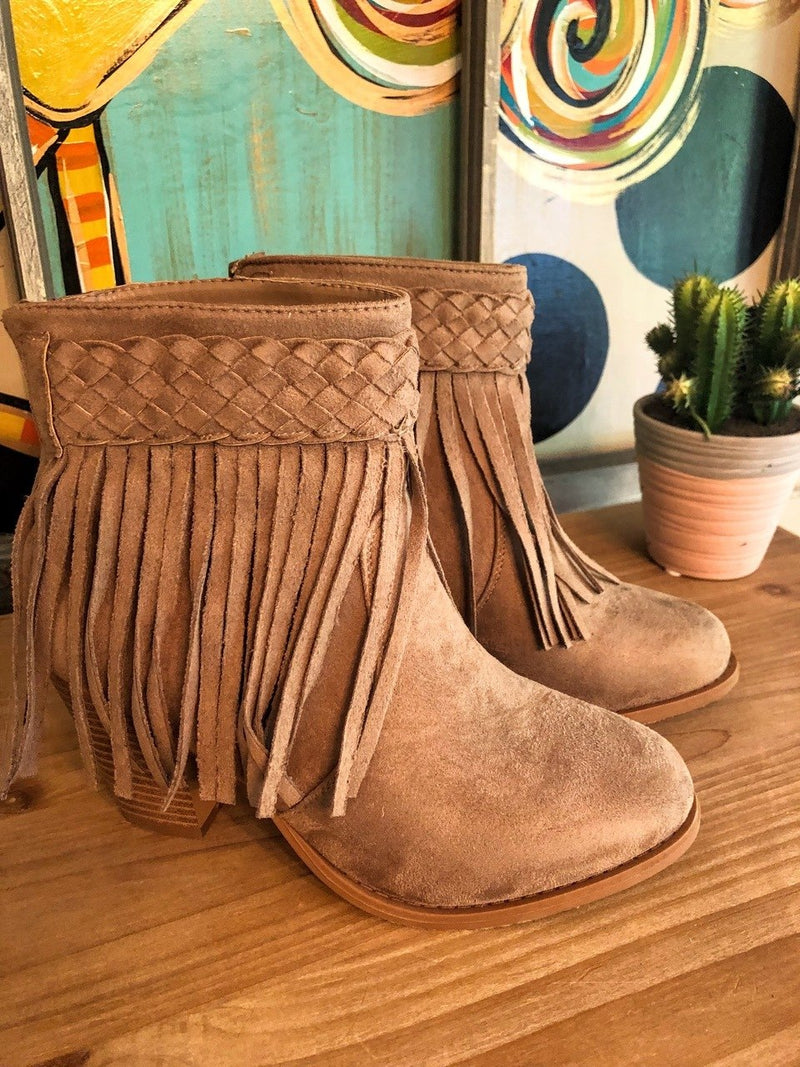 Beige Booties - The Pink Buffalo,LLC