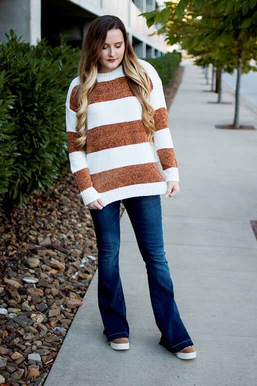Striped Camel Sweater