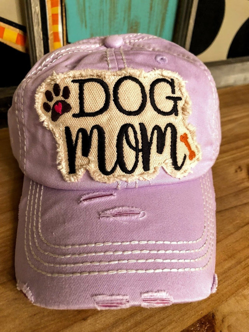 Dog Mom Cap-Purple