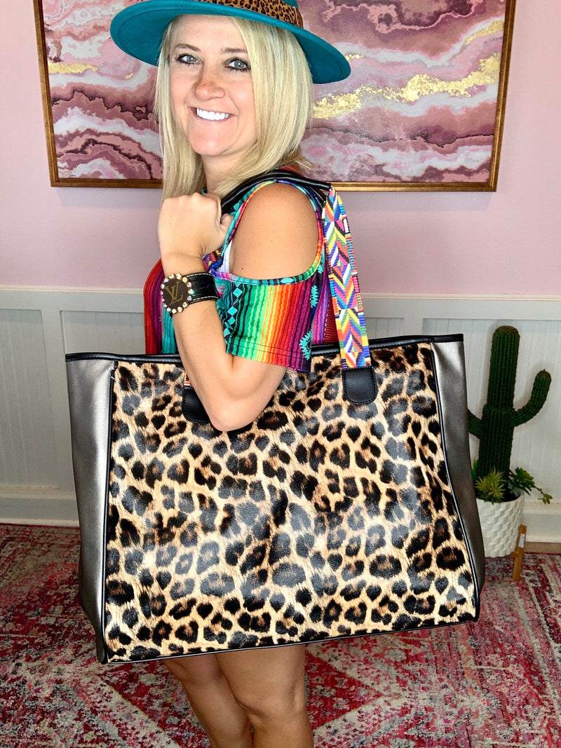 Leopard Tote-Large
