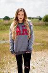 Gray Arkansas Sweatshirt