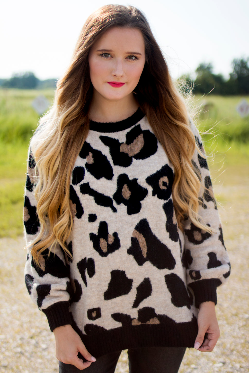 Black Leopard Sweater