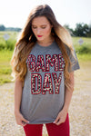 Leopard Gameday Tee-RED