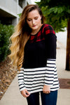 Buffalo Plaid Striped Top