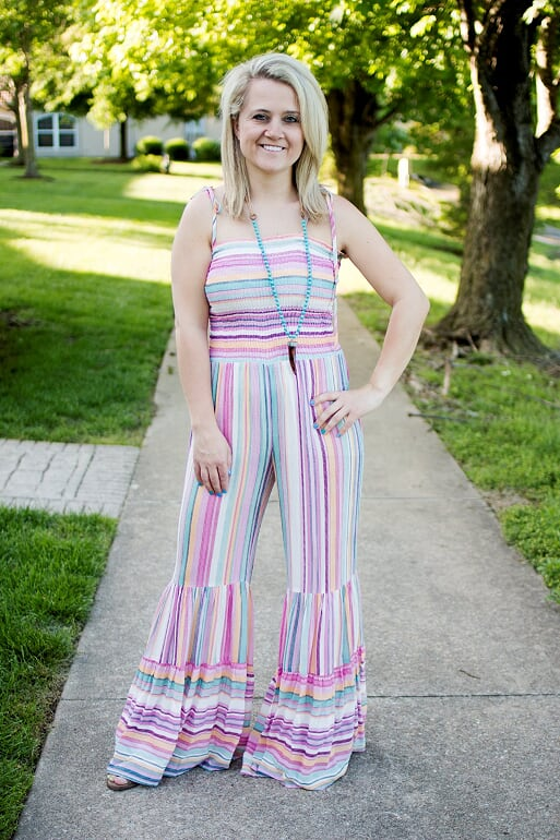 Striped Hippie Jumpsuit