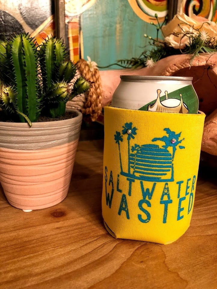 Saltwater Wasted Koozie