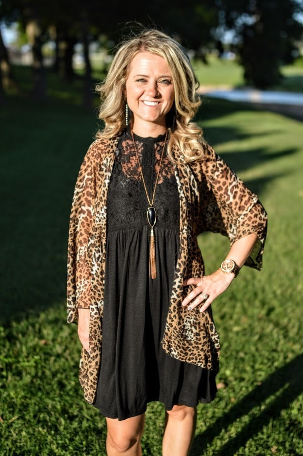 Brown Leopard Kimono - The Pink Buffalo,LLC