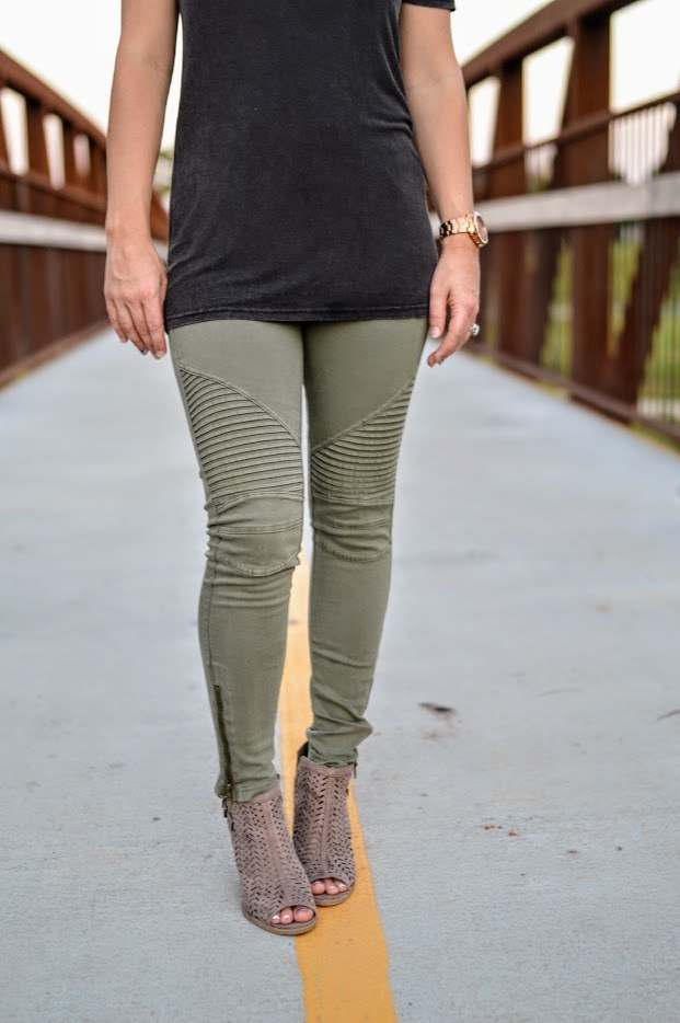 Motto Jeggings-Sage Green