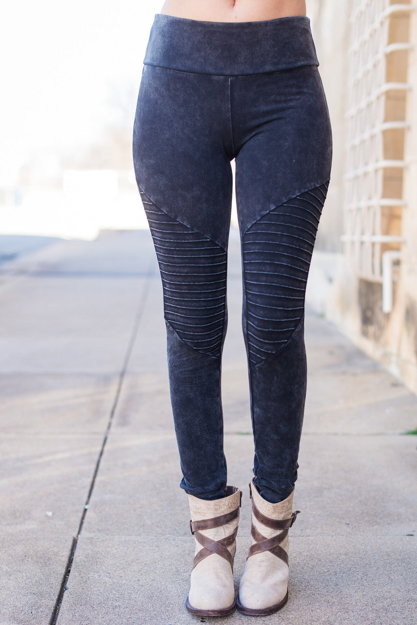 Charcoal Motto Jeggings - The Pink Buffalo,LLC