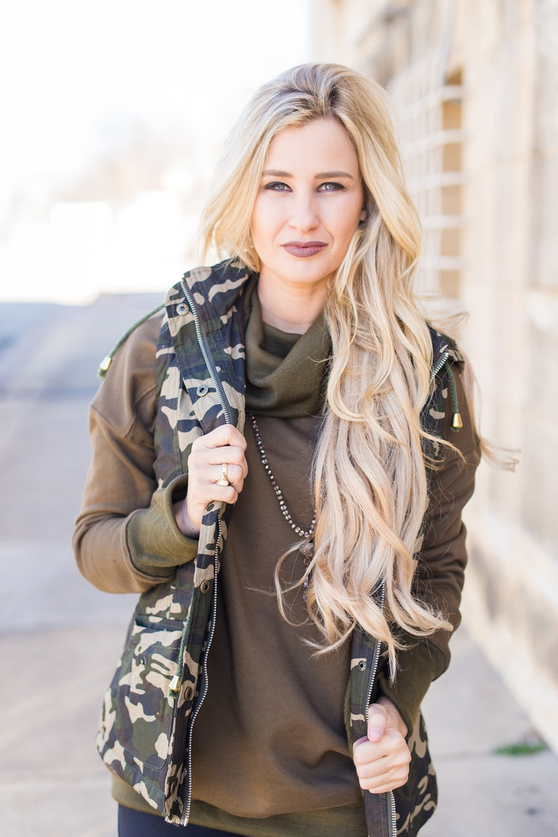 Camo Vest - The Pink Buffalo,LLC