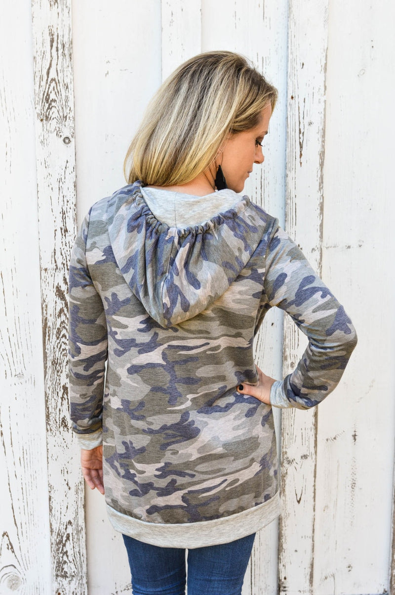 Camo Hoodie-PLUS - The Pink Buffalo,LLC