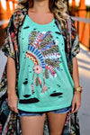 Indian Headdress Tattered Tank