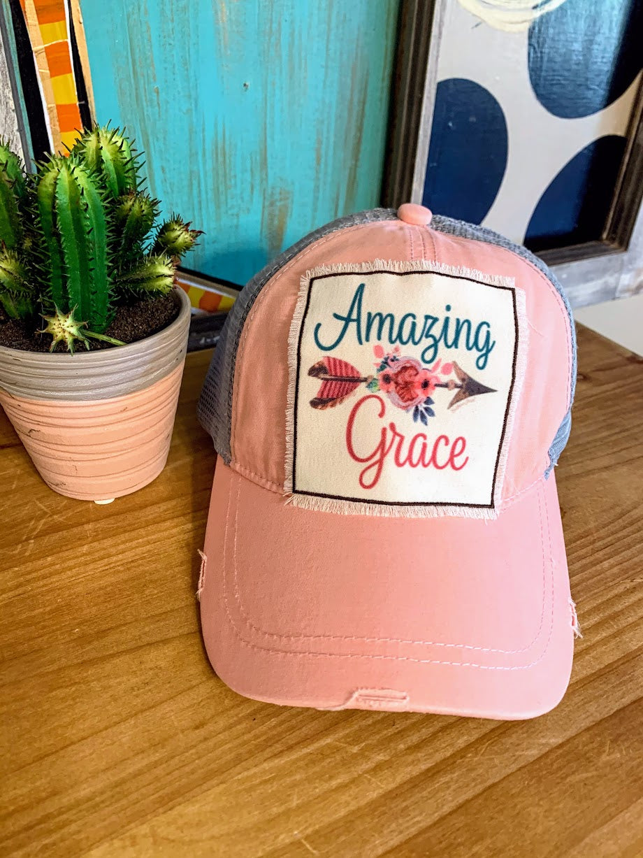 Amazing Grace Cap-Pink