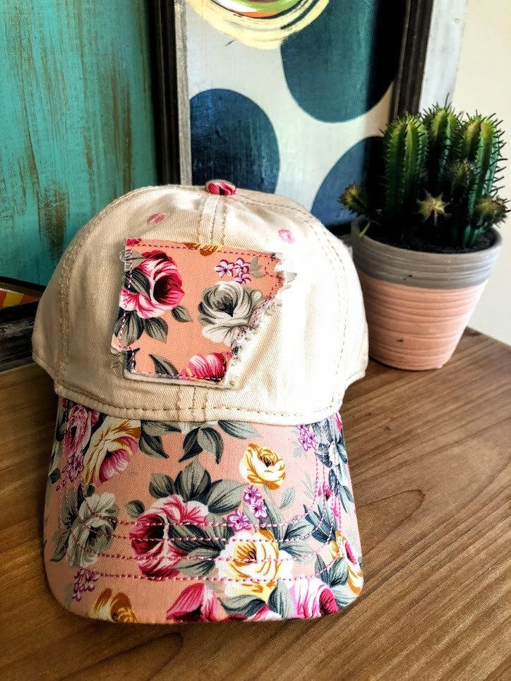 Arkansas Rose Cap-Pink - The Pink Buffalo,LLC
