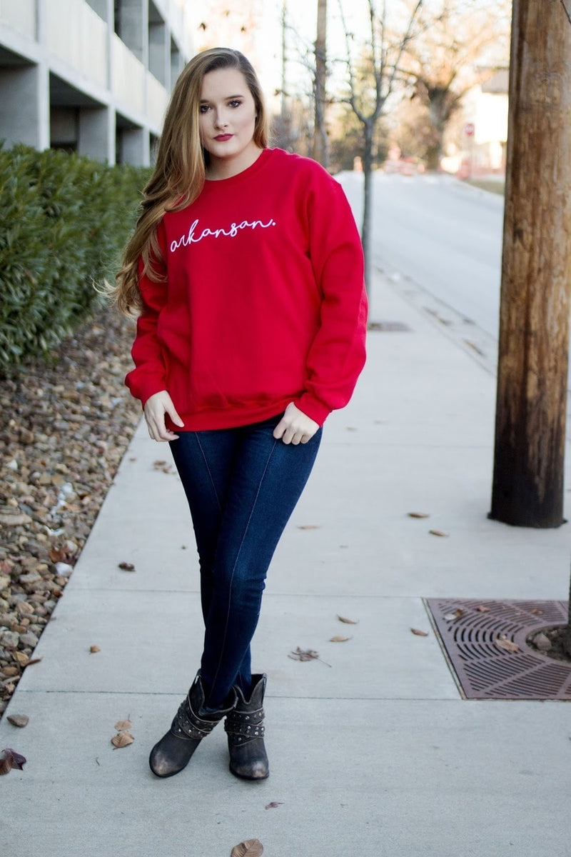 Arkansan Sweatshirt - The Pink Buffalo,LLC