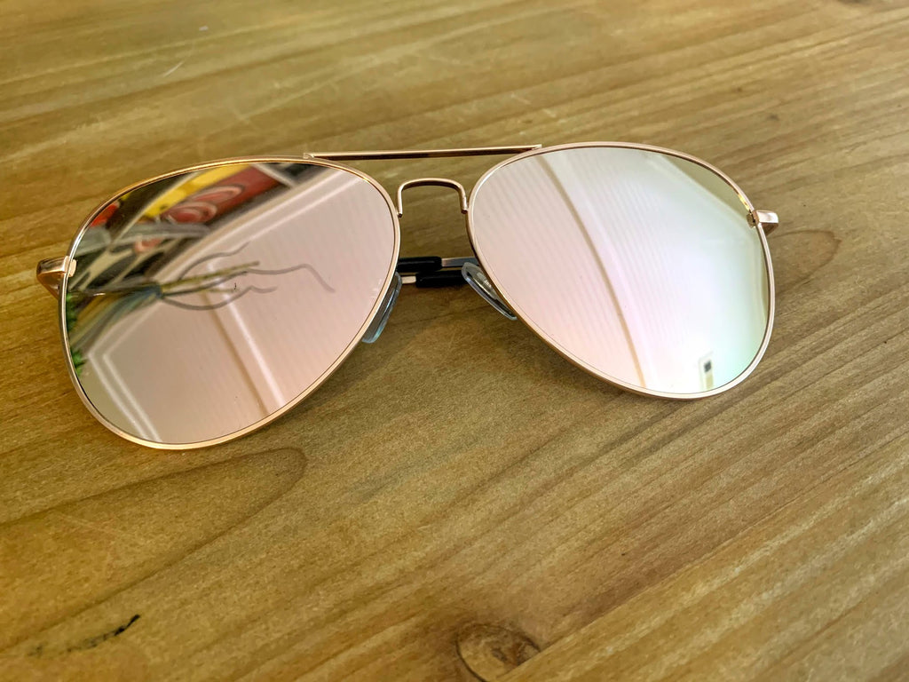 Aviator Sunglasses-Pink