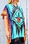 Aztec Poncho - The Pink Buffalo,LLC
