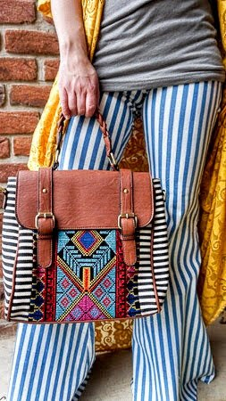 Aztec Handbag/Backpack - The Pink Buffalo,LLC