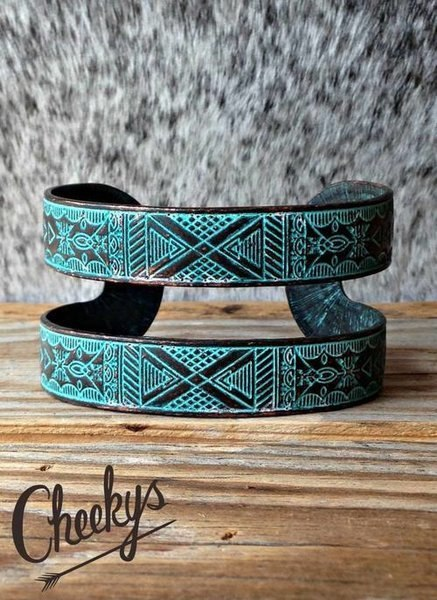 Aztec Patina Cuff - The Pink Buffalo,LLC