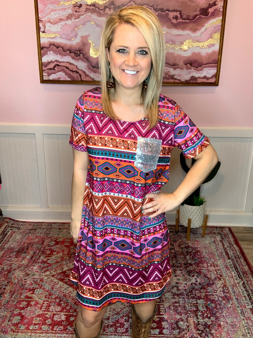 Aztec Shirt Dress