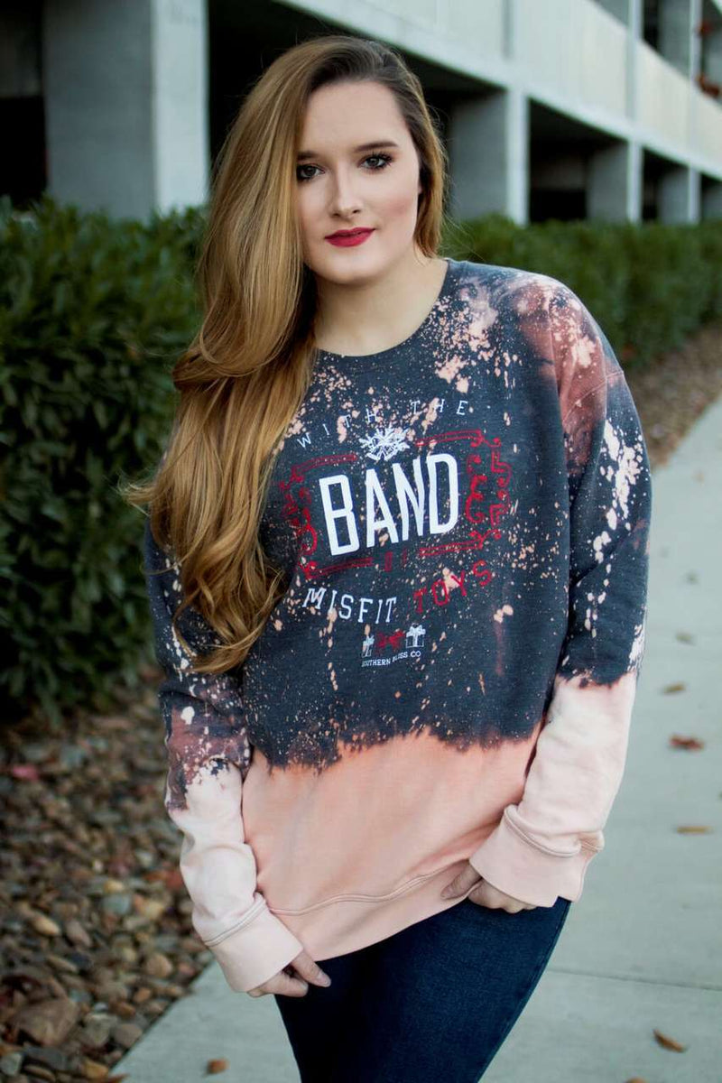 Band of Misfit Toys Bleached Sweatshirt - The Pink Buffalo,LLC