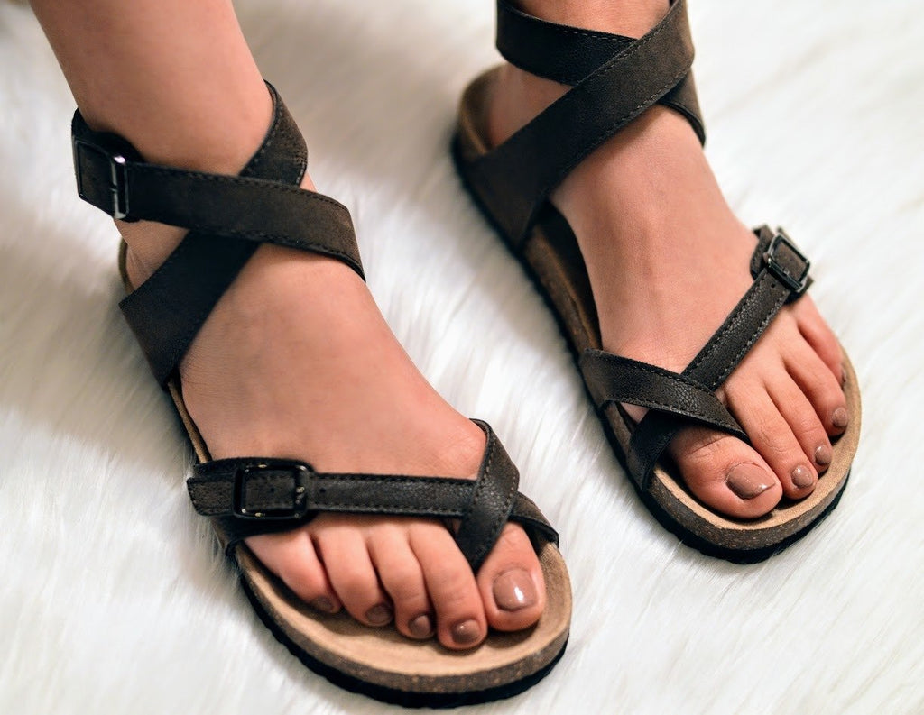 Birkenstock Sandals-Chocolate - The Pink Buffalo,LLC