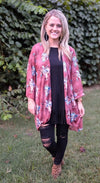 Blush Indian Headdress Kimono - The Pink Buffalo,LLC