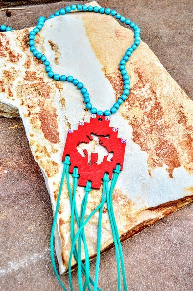 Bucking Bronco Necklace - The Pink Buffalo,LLC