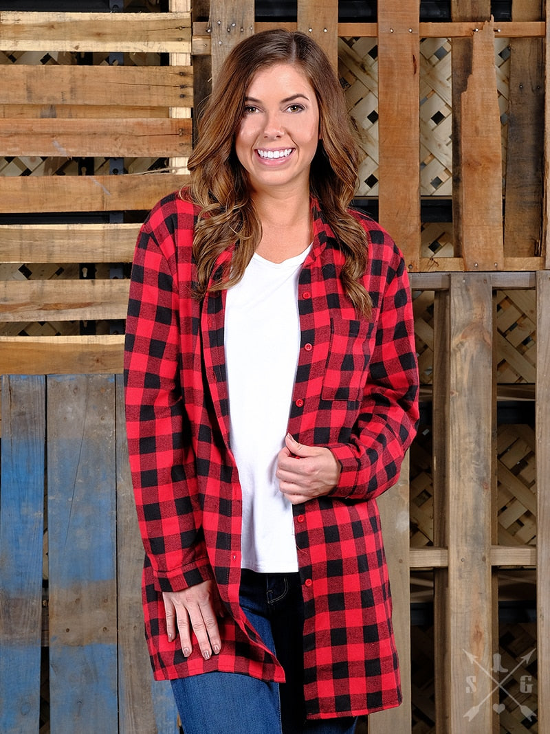 Reindeer Buffalo Plaid Flannel