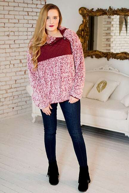 Burgundy Pullover - The Pink Buffalo,LLC