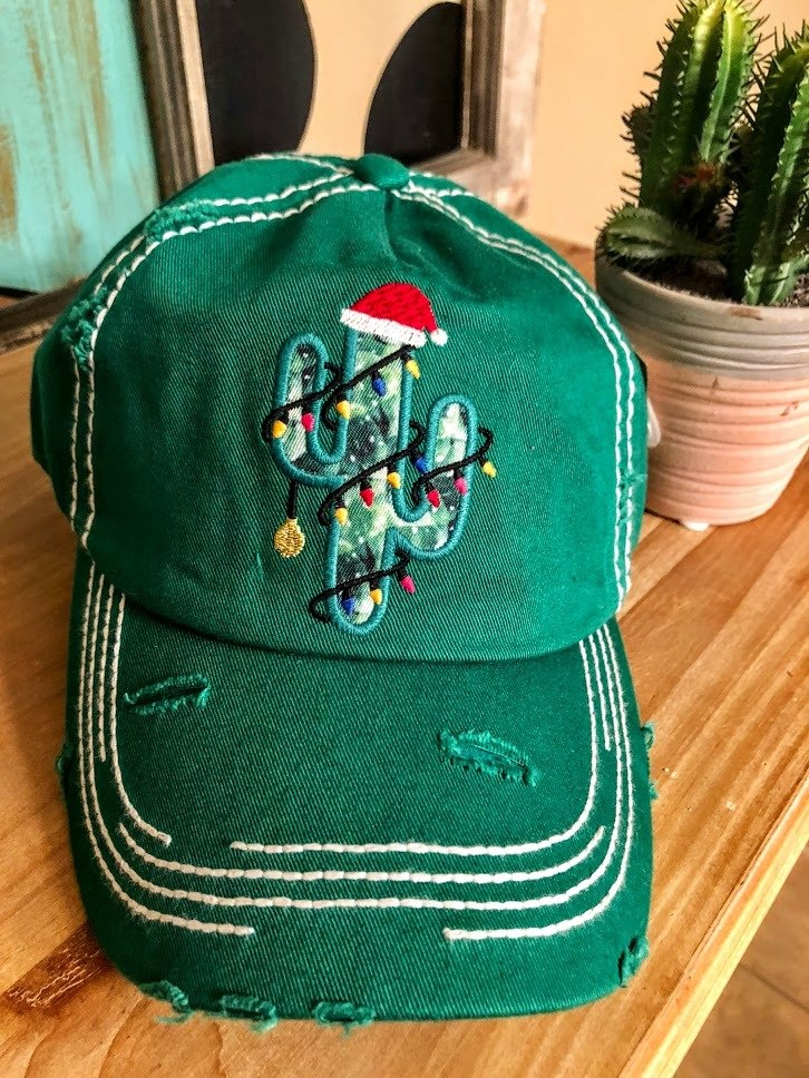 Cactus Christmas Cap-Green - The Pink Buffalo,LLC