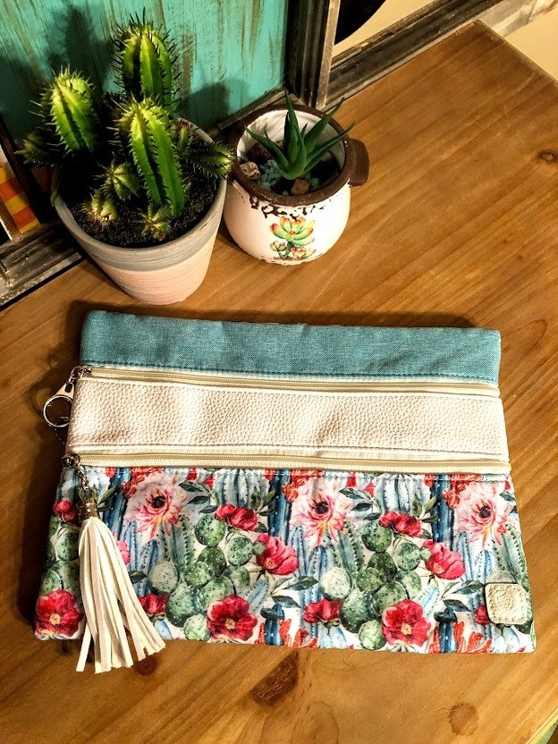 Cactus Makeup Bag - The Pink Buffalo,LLC