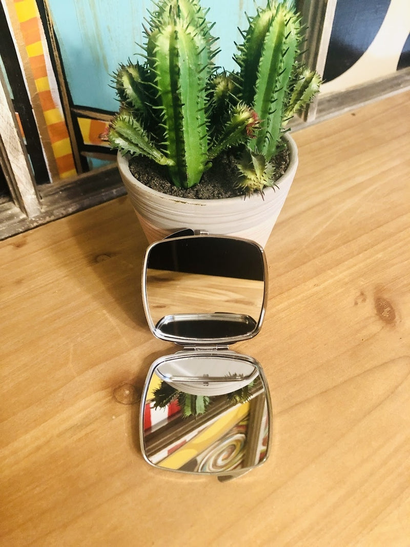 Cactus Compact Mirror - The Pink Buffalo,LLC