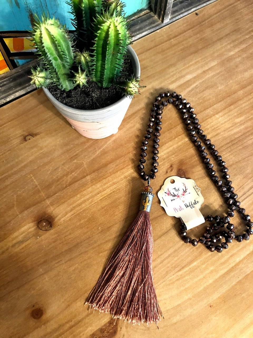 Chocolate Cactus Necklace - The Pink Buffalo,LLC