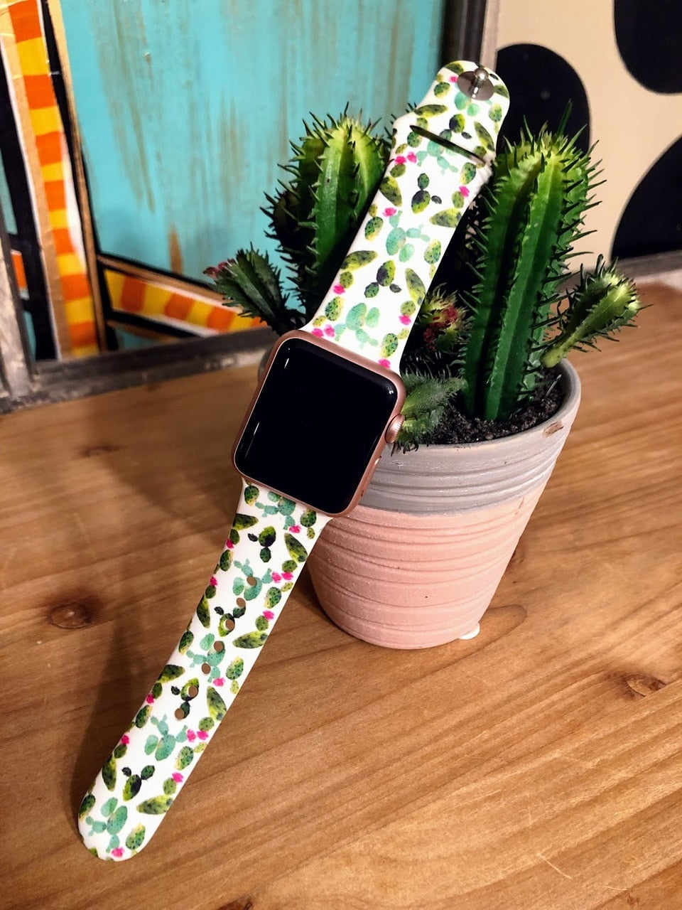Floral Cactus Watch Band-42mm