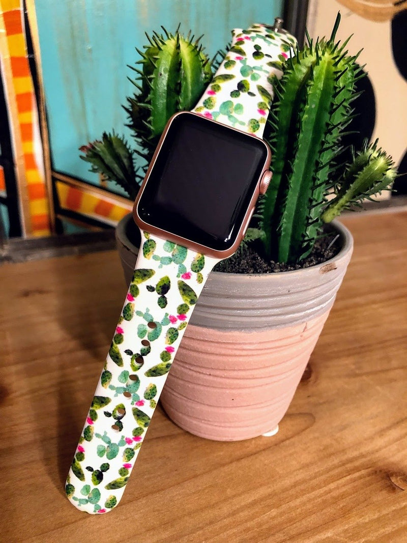 Floral Cactus Watch Band-38mm