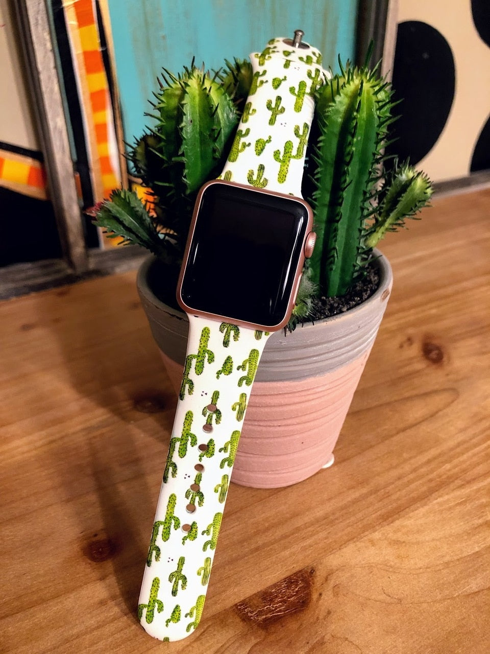 Cactus Watch Band (38mm) - The Pink Buffalo,LLC