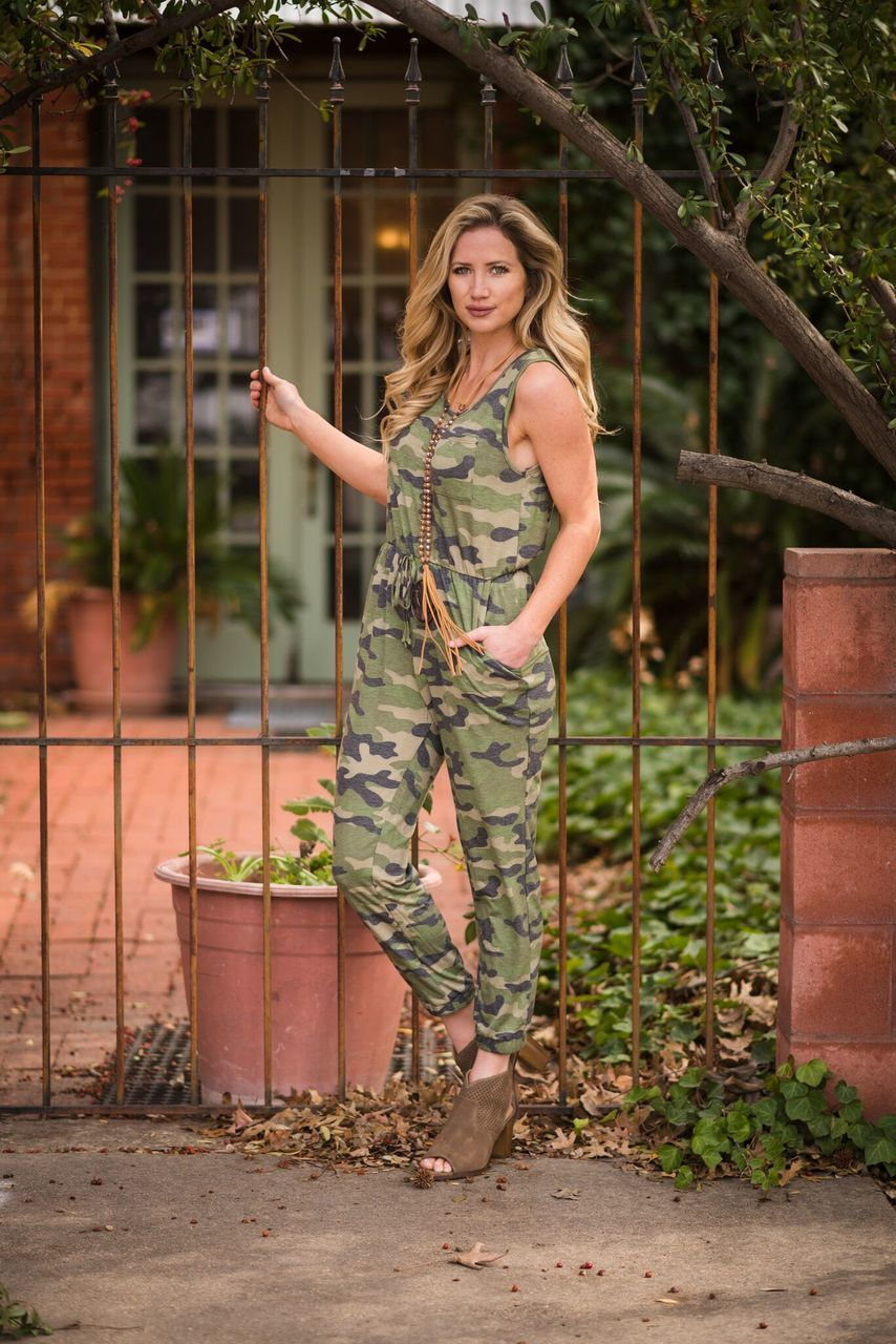 Camo Jumpsuit - The Pink Buffalo,LLC