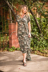 Camo Maxi Dress - The Pink Buffalo,LLC