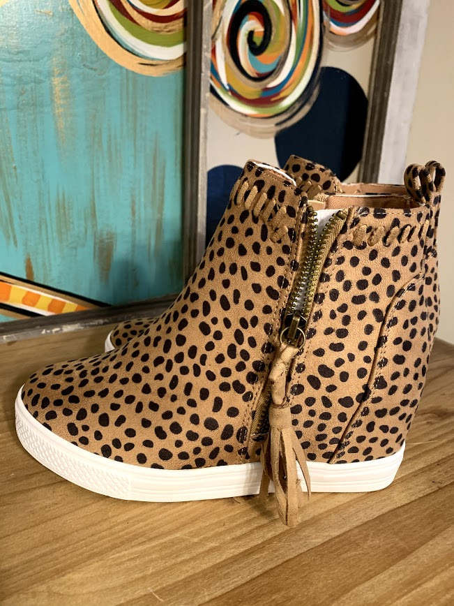 Cheetah Wedge Sneakers