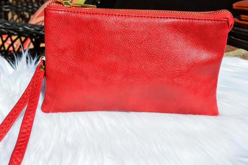 Leather Clutch-Red