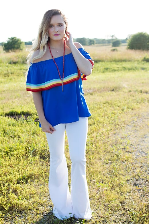 Cobalt Striped Top