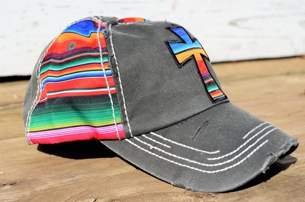 Cross Hat (Gray) - The Pink Buffalo,LLC