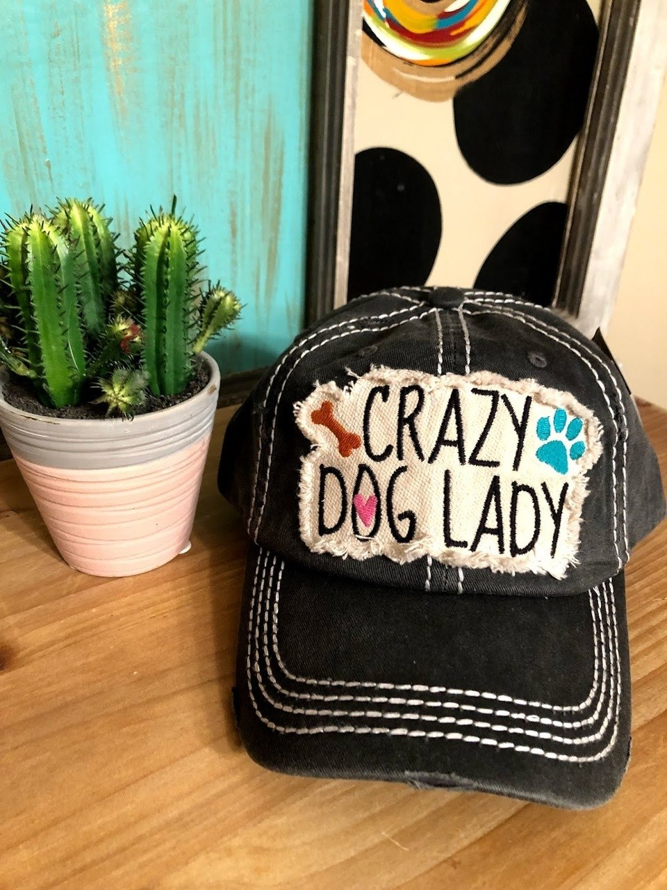 Crazy Dog Lady Cap-Gray - The Pink Buffalo,LLC
