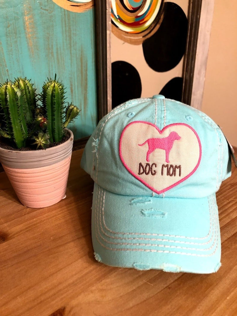 Dog Mom Cap-Teal