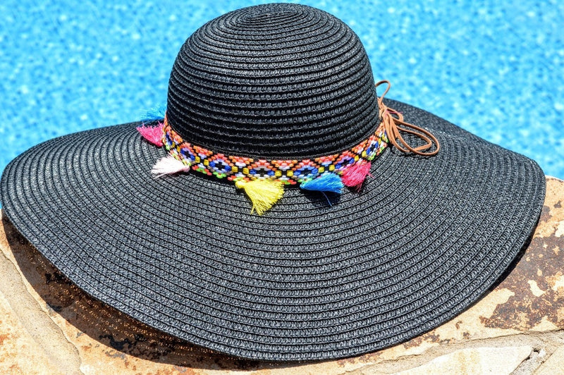 Floppy Beach Hat (Black)