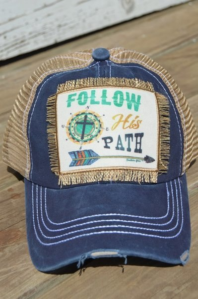 Follow His Path Hat (Navy)