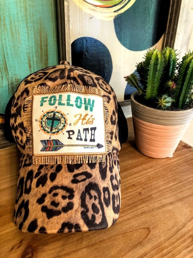 Follow His Path Hat (Leopard)